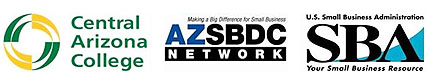 Business Training & Workshops which includes Central Arizona College, AZSBDC Network & U.S. Small Business Administration
